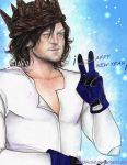 Norman Reedus  - Happy  New Year by zelldinchit