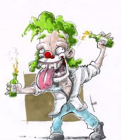 crazy mofo clown by robiant
