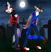 Zombies of the Graveyard by dragonwolfgirl1234