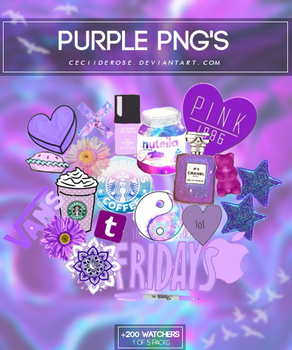 Purple png's | Pack by CeciiDeRose
