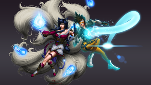 Ahri vs Tracer by DigiFlohw