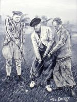 Three Stooges Golf painting by tdastick