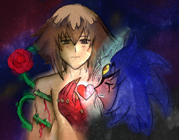 Fused Hearts by Crystal-Dream
