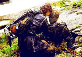 Katniss Finds Peeta Camouflaged by DistrictPotter13