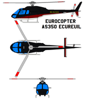 Eurocopter AS350 Ecureuil by bagera3005
