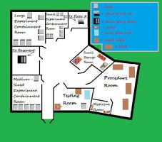 Arizona Animal Testing Facility FH Map Floor1 Plan by xPuRfectDiSastRx