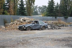 Destroyed Car by pelleron-stock