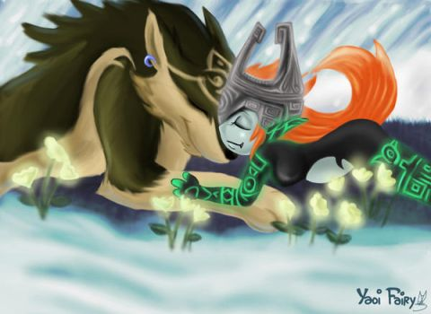 Link and Midna by GhettoRainbowCat