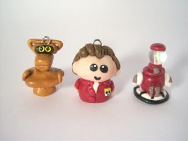 MST3K Clay Pendant Set by sweet-geek