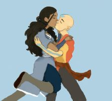 Kataang Victory Kiss Colored by NuclearKitty17