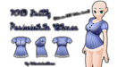 MMD Frilly Periwinkle Blouse by Tehrainbowllama