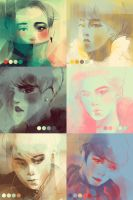Color Meme: EXO-M by putemphasis