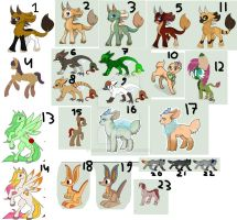 Leftover Adoptables Set [cheap] by alkindadopts