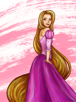 Rapunzel by SomethingSchmancy