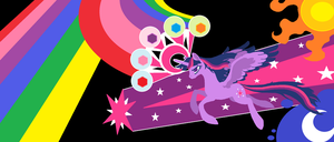 Alicorn Friendship Cannon is 'GO' by FoldawayWings