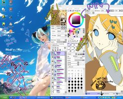 : vocaloid desktop + WIP : by lollivamp