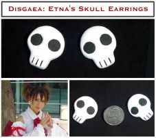 Disgaea - Etna Skull Earrings by YellerCrakka