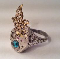 Stunning Steampunk Ring by SteamDesigns