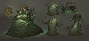 1602 jungle Slime queen by alswns3421