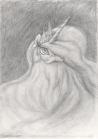Pencil Sketch - By Celestia's Beard by Hewison