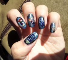 Doctor Who Nail Art by aniapaluch
