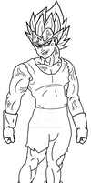 Majin Vegeta outline - From Badman cosplay pose by Dbzbabe