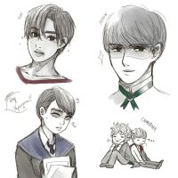 fighting down artblock with EXO by sonkahalx3