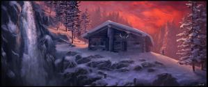 Winter Cabin by Gaius31duke