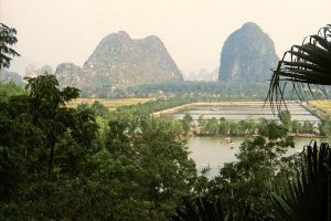 Guilin Mountain Evening, 1986 by bobswin