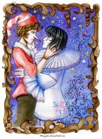 Buratino and Pierrot by MaryIL