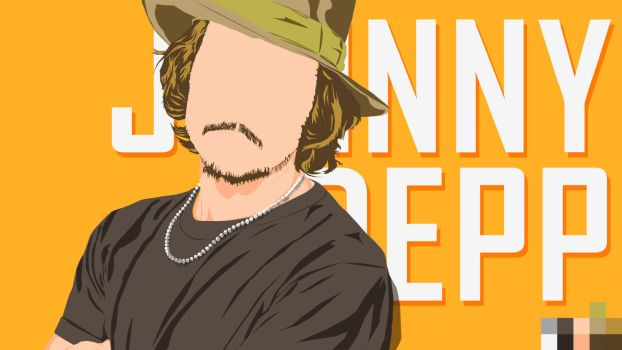 Flat_Johnny Depp by RobbaniFauzi-XI