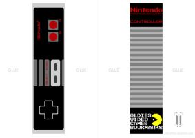 NES controller bookmark by tibots