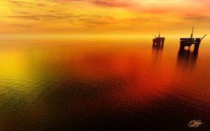 Oil Platform - Day by ivanraposo