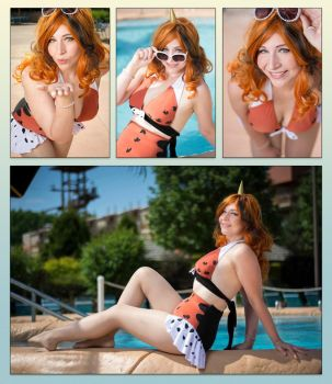 Seaking Pokemon Swimsuit Cosplay by Athena1chan