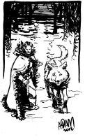 Jon Snow and Ghost by ADAMshoots