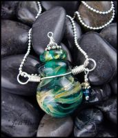 Galilean Moon - Glass Bottle Pendant by andromeda