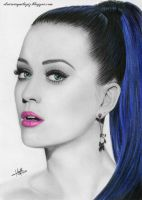 Drawing Portrait Katy Perry by iSaBeL-MR