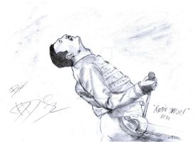 Freddie Mercury - Drawing by Dario4Slash