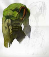 MAN-THING sketch 03 by saltares