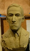 HP Lovecraft in progress by imagination-heart