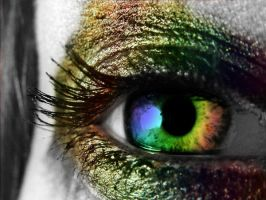 Rainbow Crazy Eye by LT-Arts