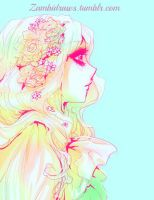 flowers and gradients by zambicandy