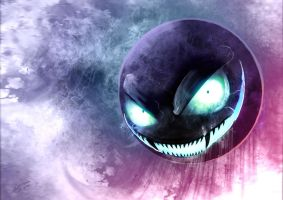 Creepy Gastly by kokodriliscus