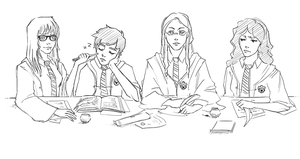 Awesome Ravenclaw Gang by Munkell