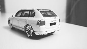 Quite destroyed model Porsche Cayenne Turbo Wh by VeronicaPsycho