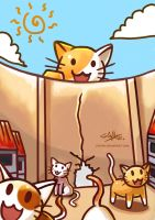 Attack On Kitty by stryler