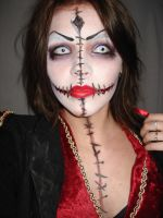 mortuary makeup by halfdemonhottie