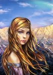 Idril in the Mountains by Venlian
