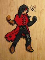 Vincent Valentine Trainer Perler Beads by Cimenord
