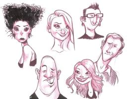 Face Sketches 2 by JeffVictor